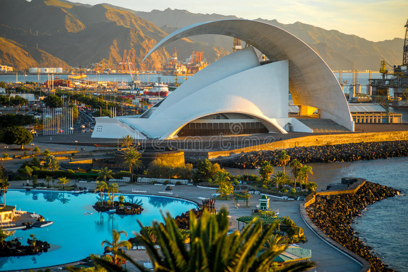 Auditorio de Tenerife royalty free stock photos