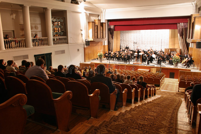 Auditorio del concierto imagen de archivo