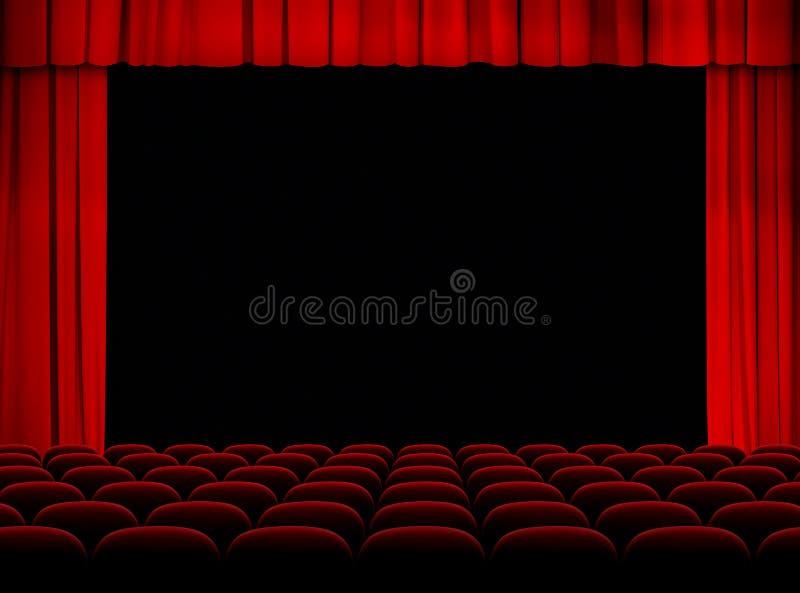 Auditorio Del Teatro Con La Etapa, Las Cortinas Y Los