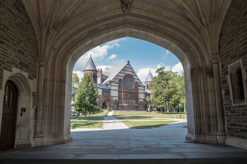 Auditorio Richardson en la Universidad de Princeton, Nueva Jersey (Estados Unidos) imagen de archivo