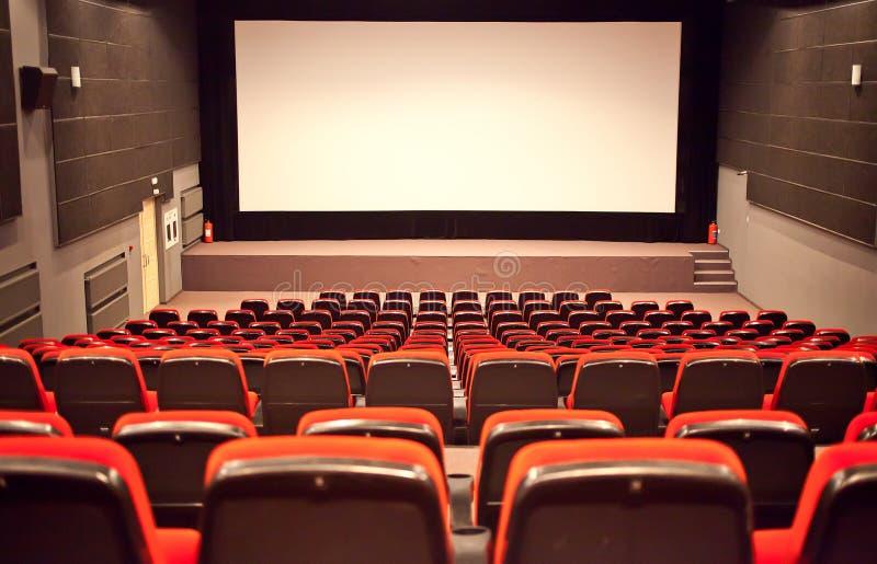 Auditorio vacío del cine imágenes de archivo libres de regalías