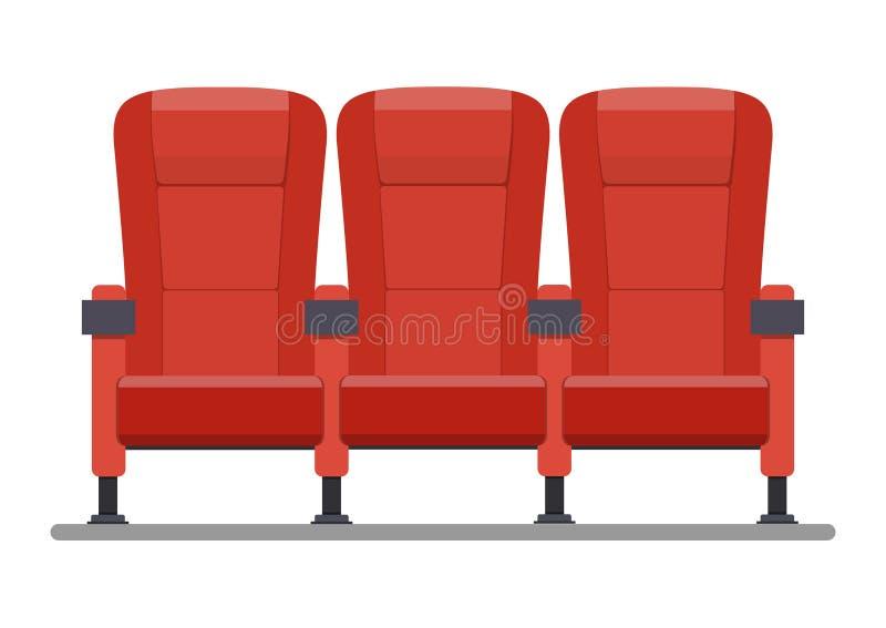 Auditorio y asientos en un cine libre illustration