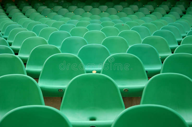 Auditorium. Detail of seats in empty auditorium royalty free stock photos