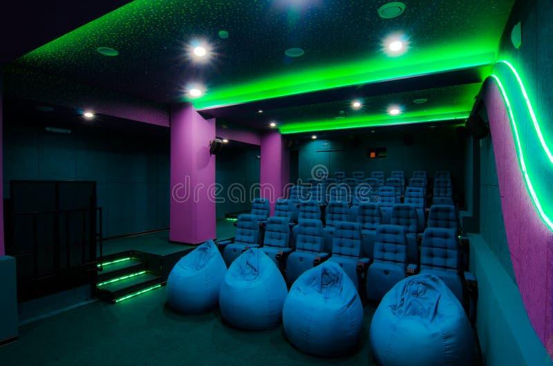 Auditorium in bioskoop royalty-vrije stock fotografie
