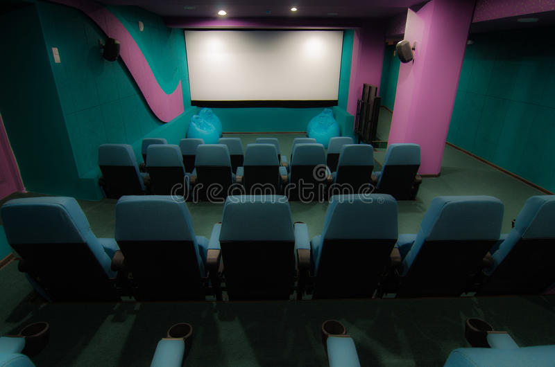 Auditorium in cinema royalty free stock photography