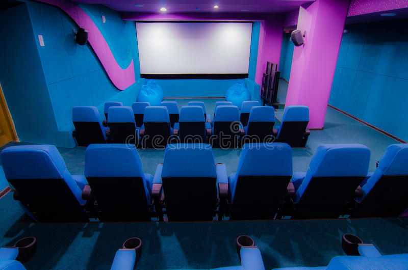 Auditorium in cinema royalty free stock images