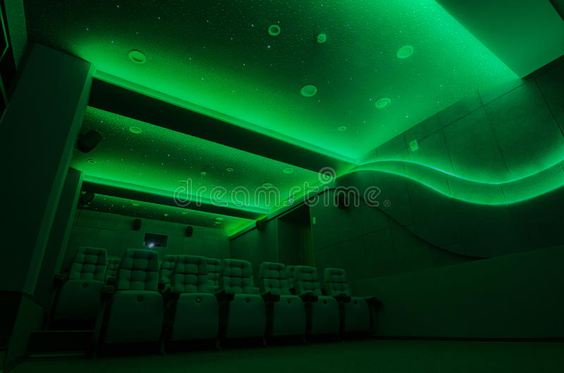 Auditorium in cinema royalty free stock photo
