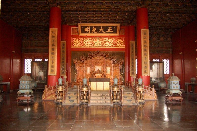 Auditorium des alten chinesischen Kaisers stockbilder