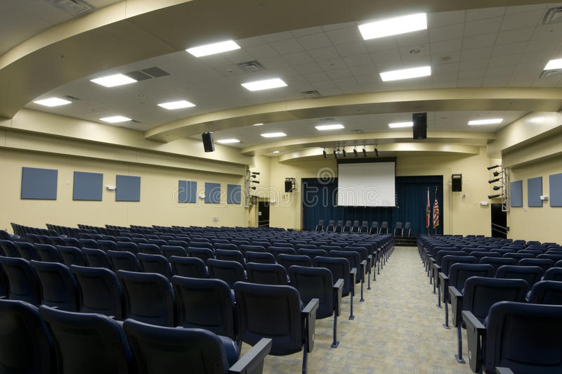 Auditorium at Middle School royalty free stock photos