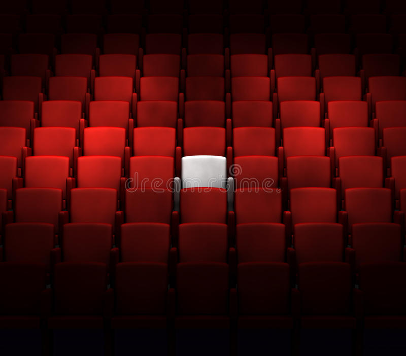Download Auditorium With One Reserved Seat Stock Illustration - Image: 21994403