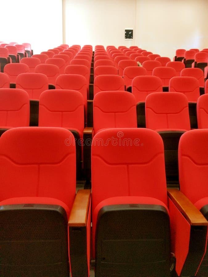 Auditorium in red stock photo