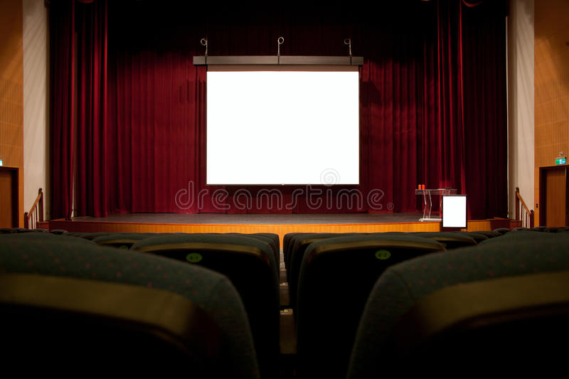 Download Auditorium screen stock image. Image of interior, lone - 23110427