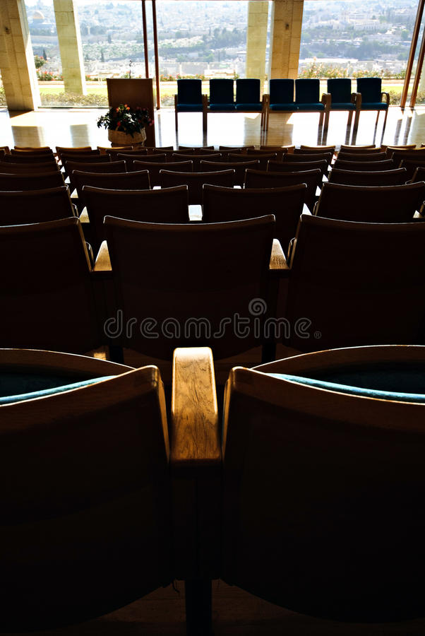 Download Auditorium Seats stock image. Image of college, view - 14106801