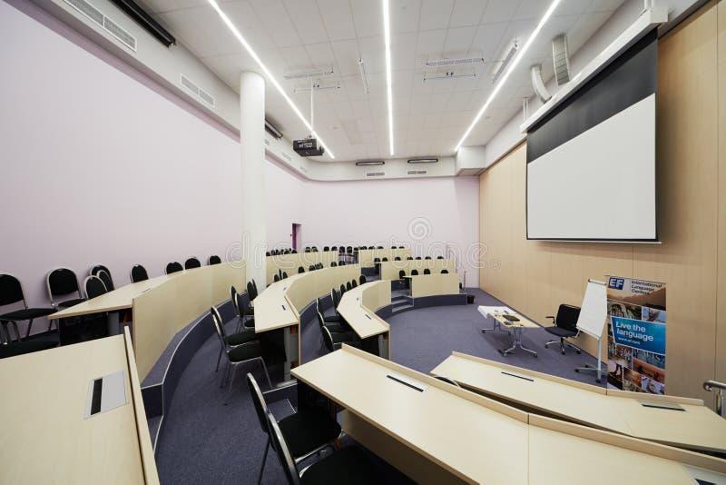 Auditorium Singapore 1 voor 60 mensen stock fotografie
