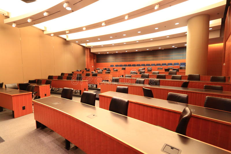 Auditorium. Small one level modern auditorium for class, meting, event, performing. show royalty free stock photos