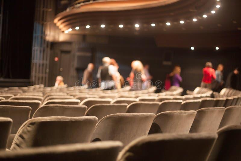 Auditoriumssitze stockfotos