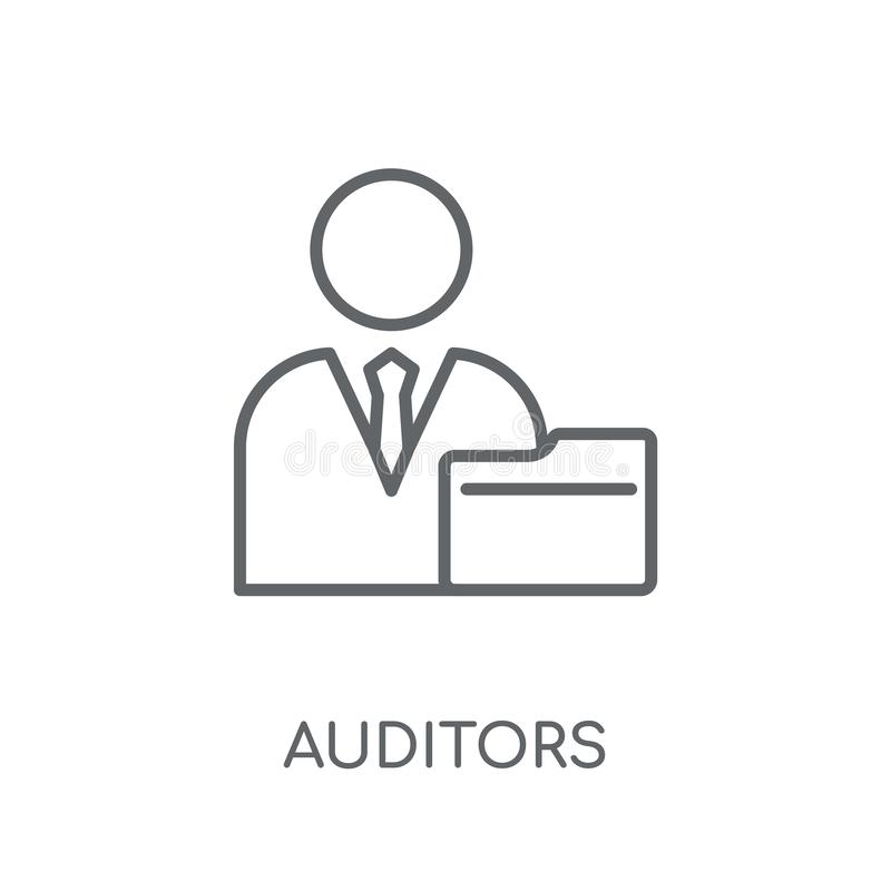 Auditors linear icon. Modern outline Auditors logo concept on wh vector illustration