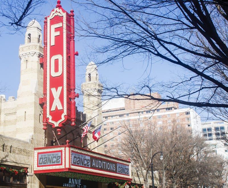 Audizioni di ballo al teatro di Fox fotografia stock libera da diritti