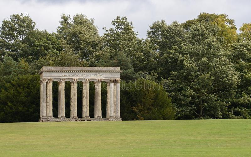 Audley End Temple of Concord stock photography