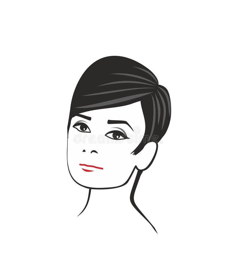 Audrey hepburn vektor illustrationer