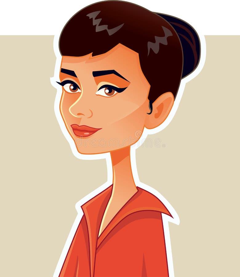 Audrey Hepburn karykatury Wektorowa Redakcyjna ilustracja ilustracji