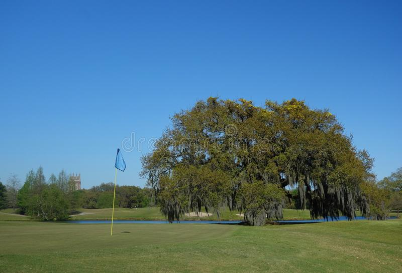 Audubon Park golf course in New Orleans stock photo