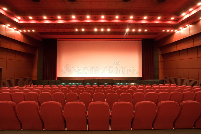 audytorium kino pusty zdjęcia royalty free