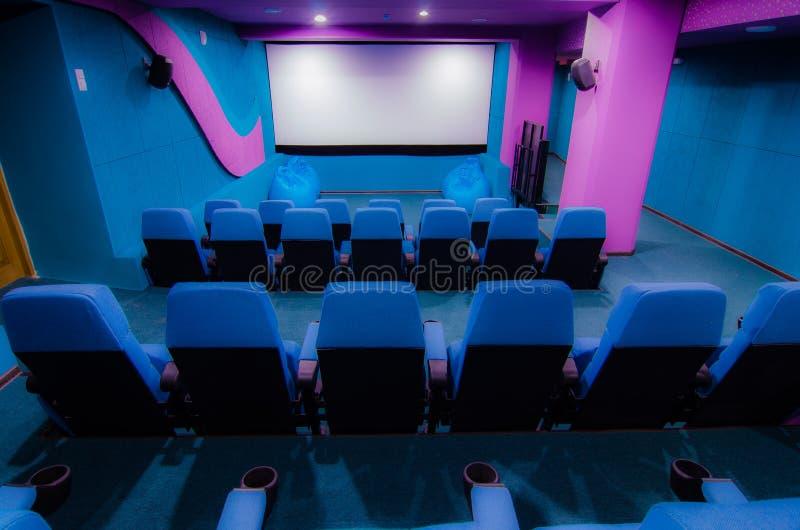 Audytorium w kinie obrazy royalty free