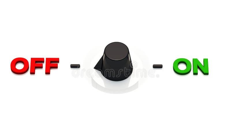 Auf Aus-Schalter oder Griff stock abbildung