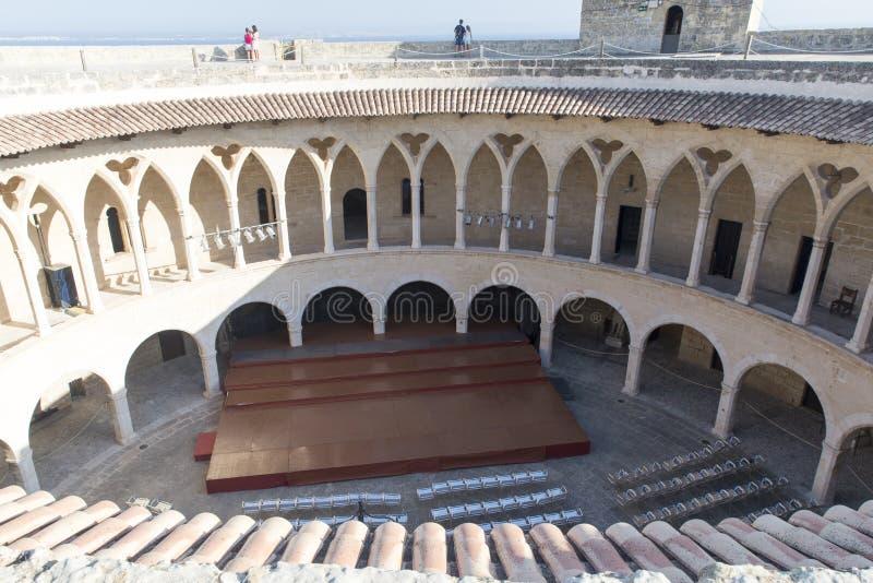 Auf Bellver-Schloss Palma de Mallorca lizenzfreies stockfoto