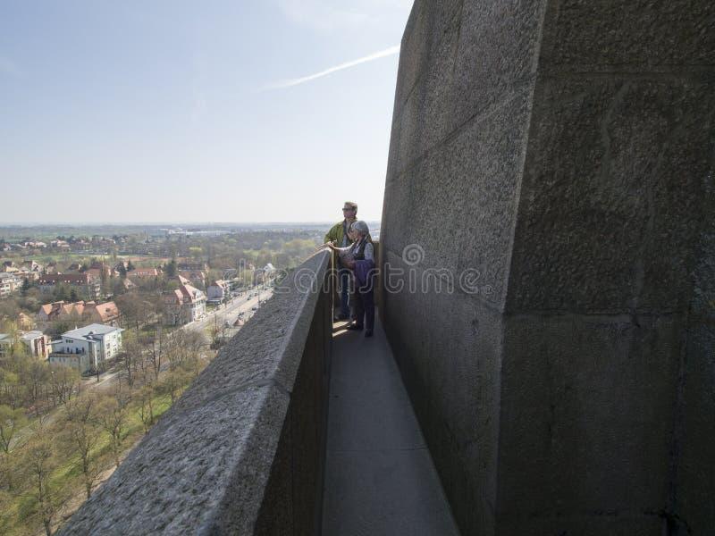 Auf dem Dach des Monuments zum Kampf der Nationen, Leipzig stockbilder