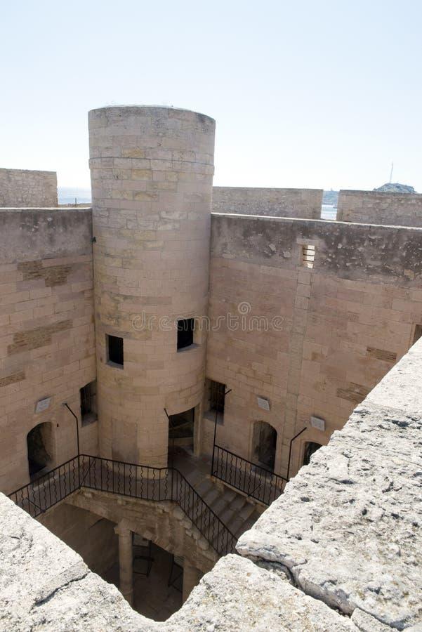 Auf dem Dach von Chateau d'If, Marseille, Frankreich lizenzfreie stockfotografie