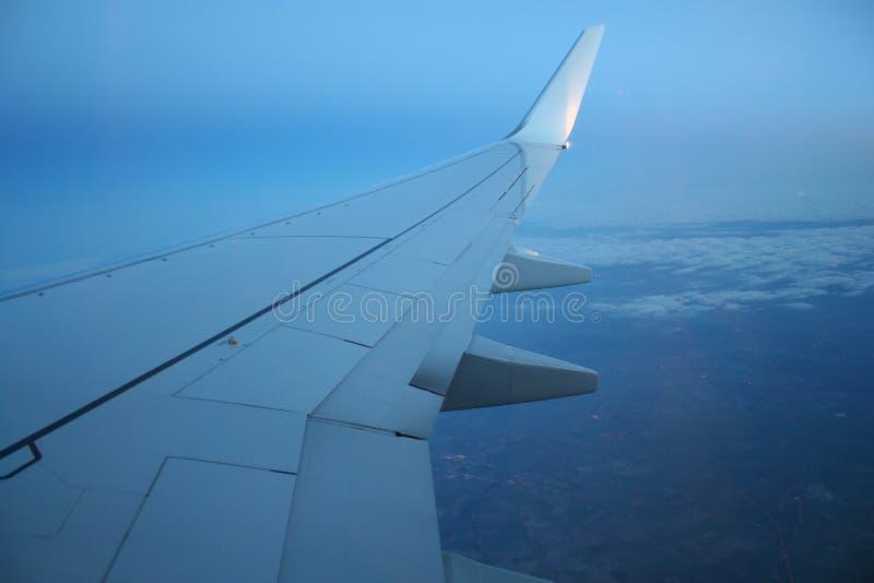 Auf dem Flügel lizenzfreies stockbild