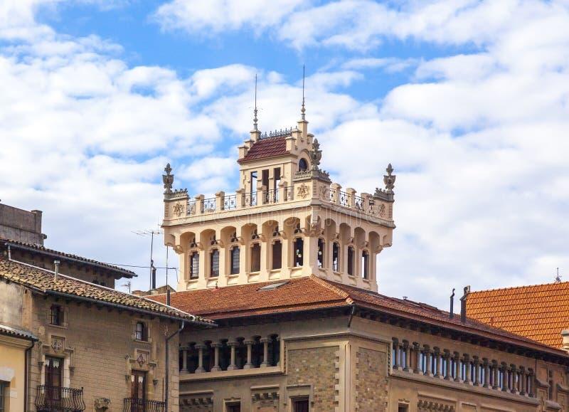 Auf dem Hauptplatz von Vic errichten, Katalonien, Spanien lizenzfreies stockbild