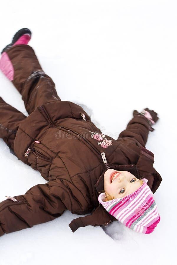 Auf dem Schnee lizenzfreies stockfoto