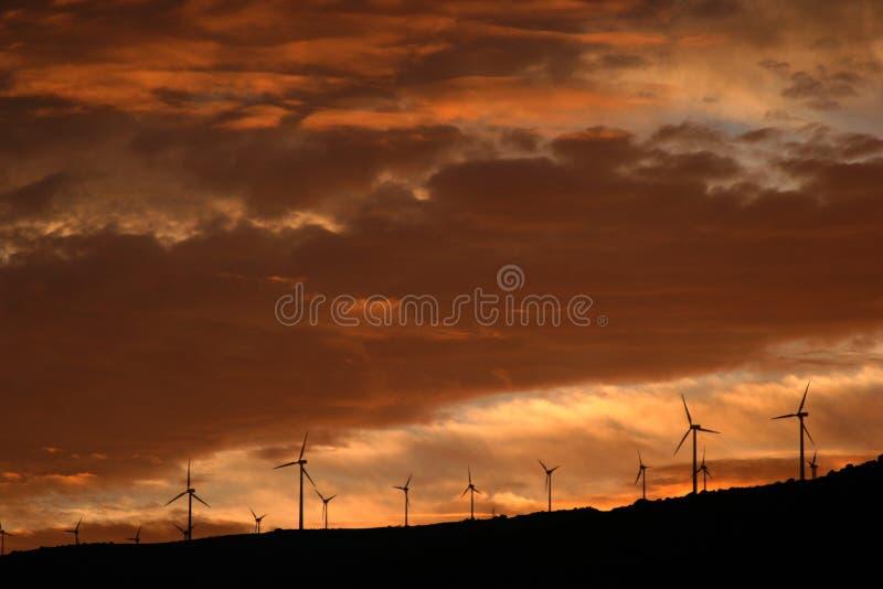 Auf dem Sonnenuntergang stockfoto