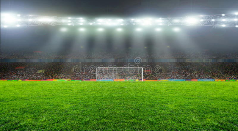 Auf dem Stadion stockfoto