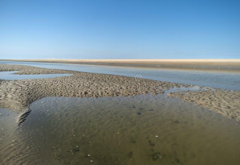 Auf dem Strand von St. Peter-Ording lizenzfreie stockbilder