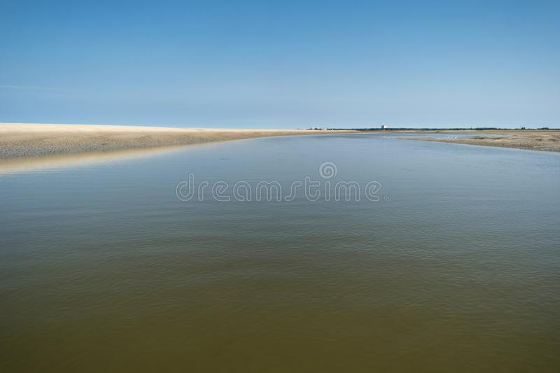 Auf dem Strand von St. Peter-Ording lizenzfreie stockfotos
