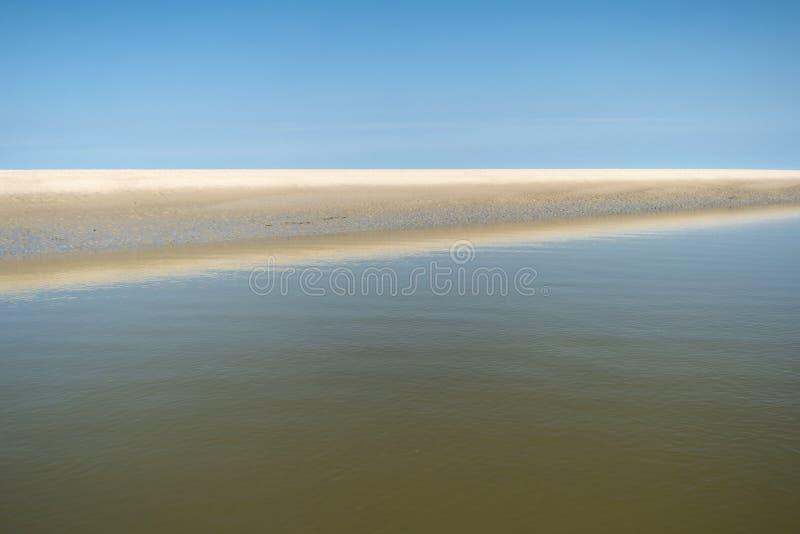 Auf dem Strand von St. Peter-Ording stockfotografie