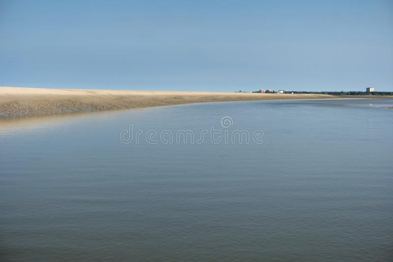 Auf dem Strand von St. Peter-Ording lizenzfreies stockbild
