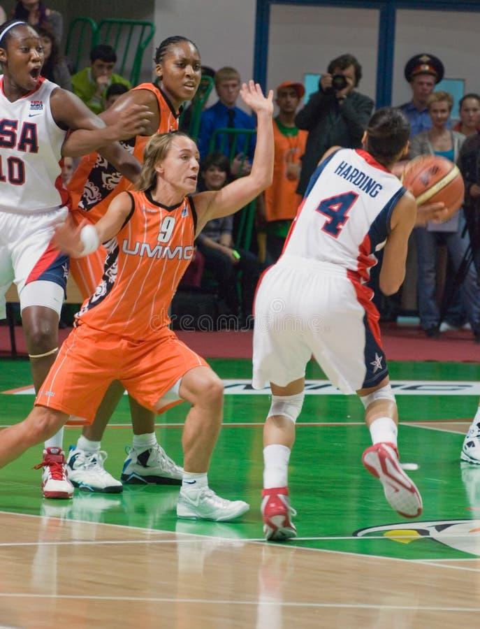 Auf dem Tanzboden-Team USA-Basketball stockbilder