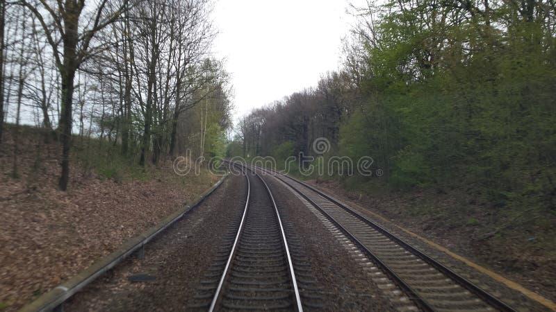 Auf dem Weg Zug zug stockbilder