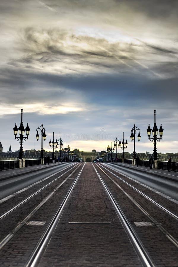 Auf dem Weg zum Bordeaux Frankreich lizenzfreies stockbild