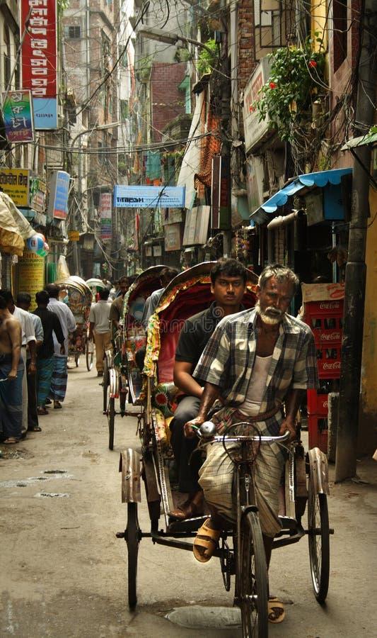 Auf den Straßen von Dacca stockfotografie