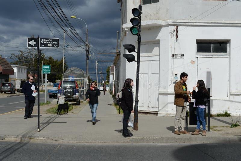 Auf den Straßen von Punta Arenas stockfotografie