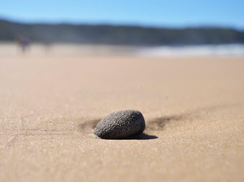 Auf den Strand gesetzter Stein lizenzfreie stockbilder