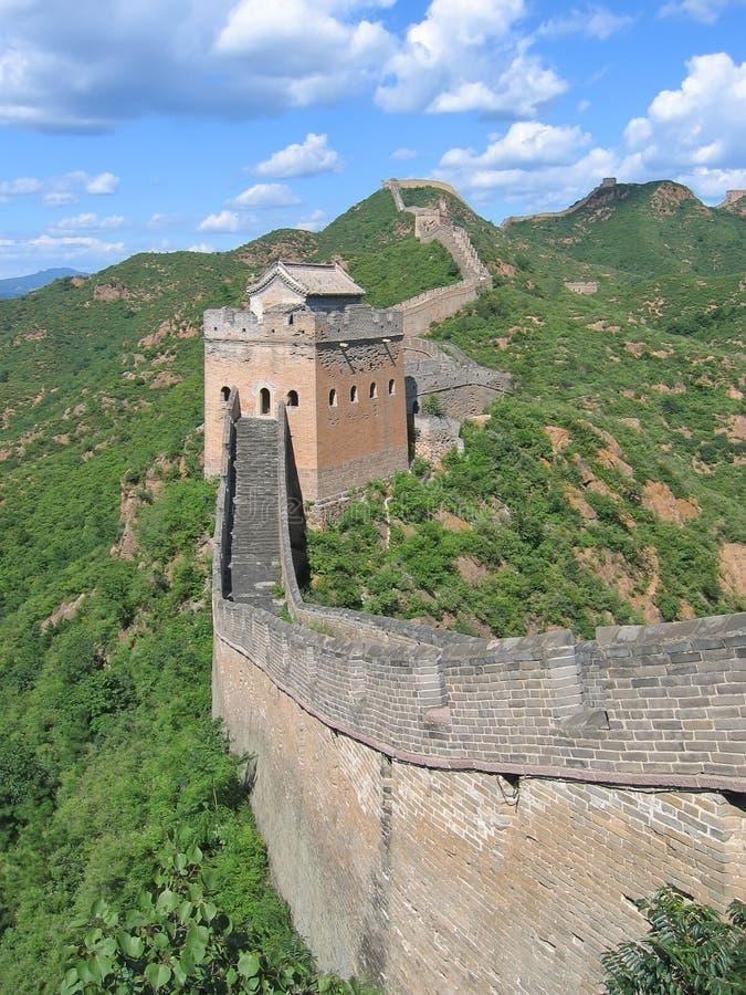 Auf der Chinesischen Mauer von China stockfotografie