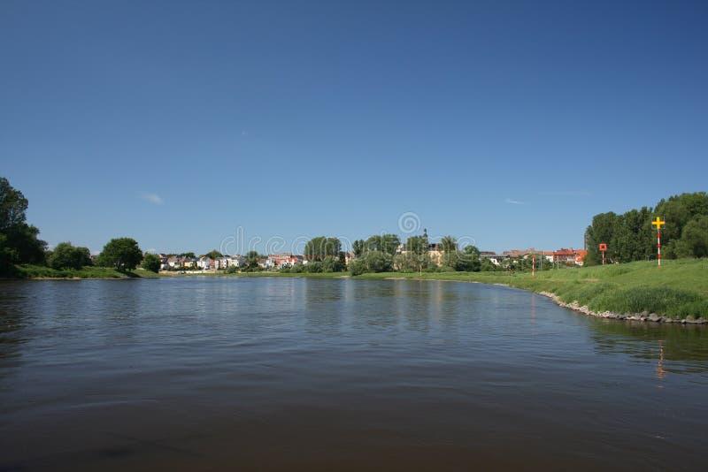 Auf der Elbe lizenzfreies stockbild