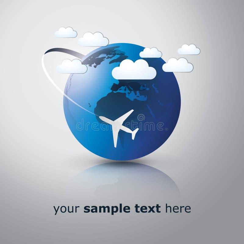 Auf der ganzen Welt reisen Konzept lizenzfreie abbildung